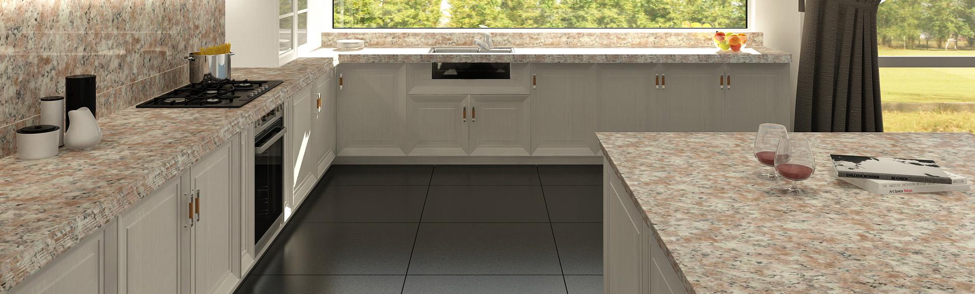 Mesadas de granito rosetto para cocina mesadas baremes for Colores de granito para encimeras